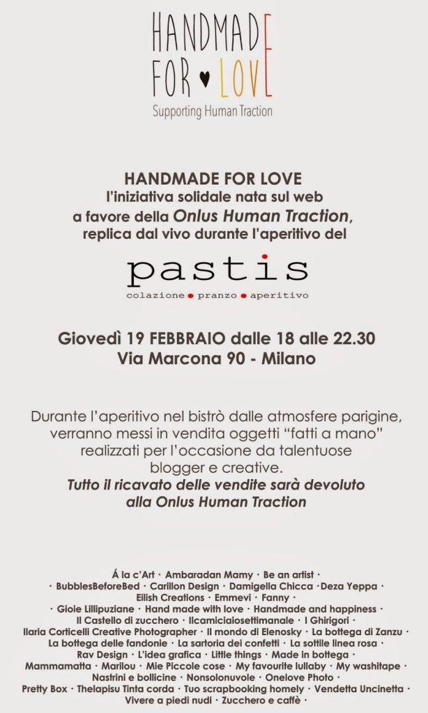 HANDMADE FOR LOVE: APERITIVO AL PASTIS IL 19 FEBBRAIO