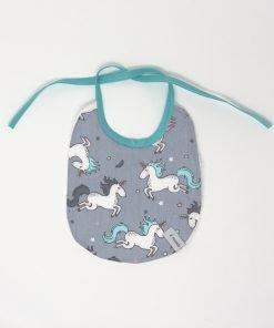 bavaglino per neonato con unicorni
