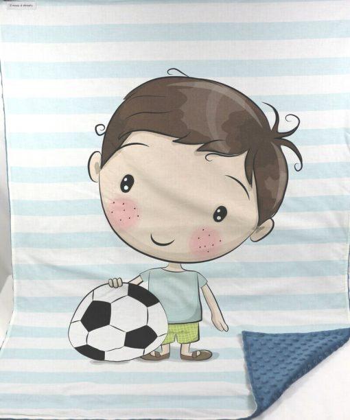 copertina in pile bambino con pallone