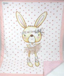 copertina in pile coniglietta ballerina
