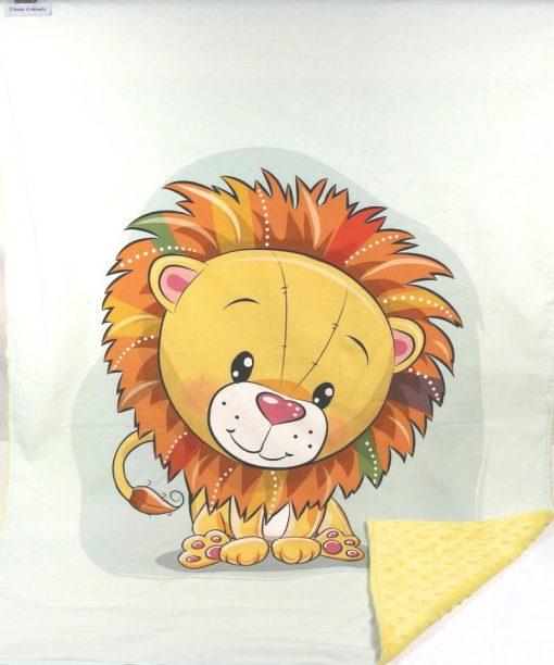 copertina in pile leone