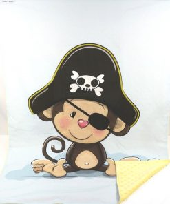 copertina in pile scimmietta pirata