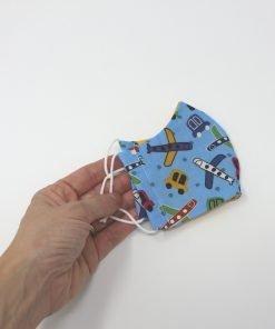 mascherina di stoffa lavabile con elastico
