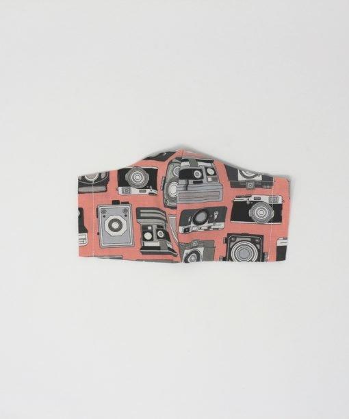 mascherina di stoffa lavabile bambini dai 7 agli 11 anni macchine fotografiche
