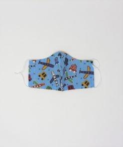 mascherina di stoffa lavabile bambini dai 3 ai 6 anni aeroplani