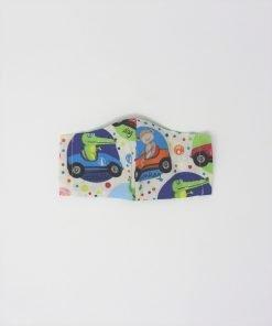 mascherina di stoffa lavabile bambini dai 3 ai 6 anni coccodrillo