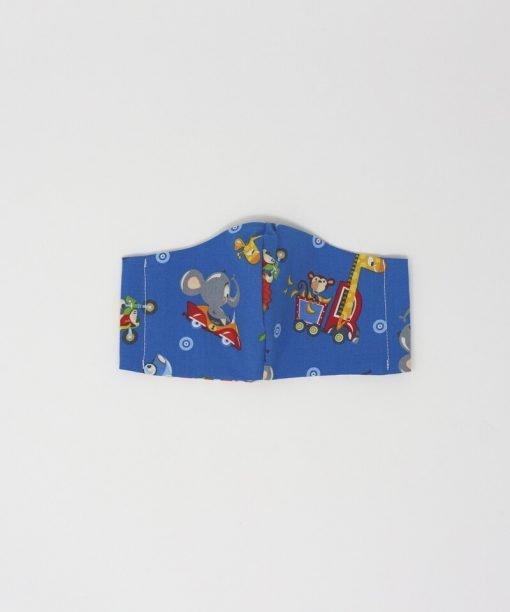 mascherina di stoffa lavabile bambini dai 3 ai 6 anni elefante