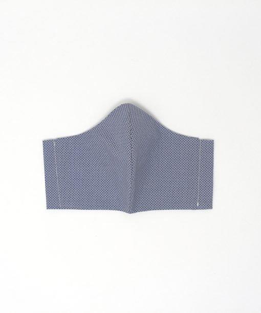 mascherina di stoffa lavabile da uomo con quadretti blu