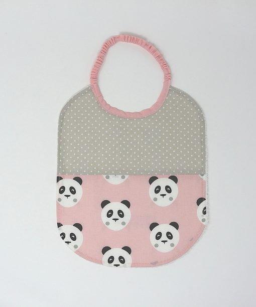bavaglino asilo panda rosa