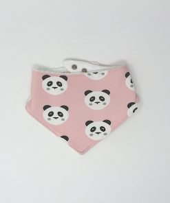 bavaglino bandana panda rosa