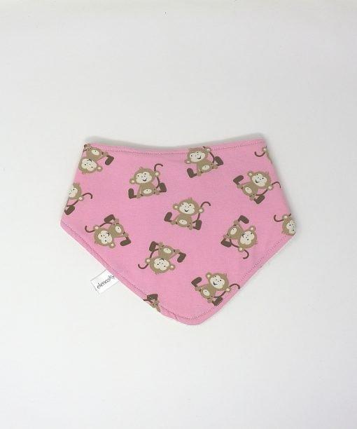 bavaglino bandana scimmiette rosa