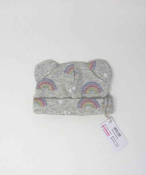 cappellino cotone arcobaleni 3-6 mesi