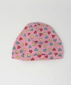 cappellino cotone cuori colorati 6-12 mesi