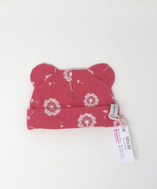 cappellino cotone fiori di cotone 3-6 mesi