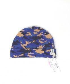 cappellino cotone mimetico blu 6-9 mesi