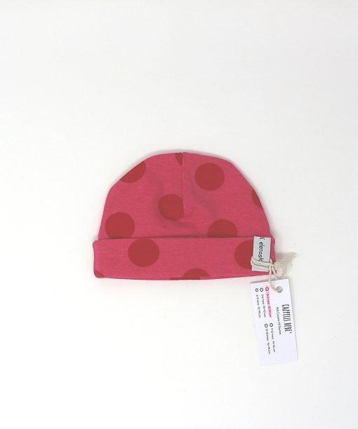 cappellino cotone pois fucsia 0-2 mesi
