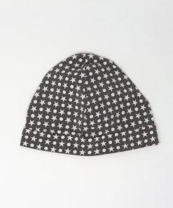 cappellino cotone stelle e pois grigio 6-12 mesi