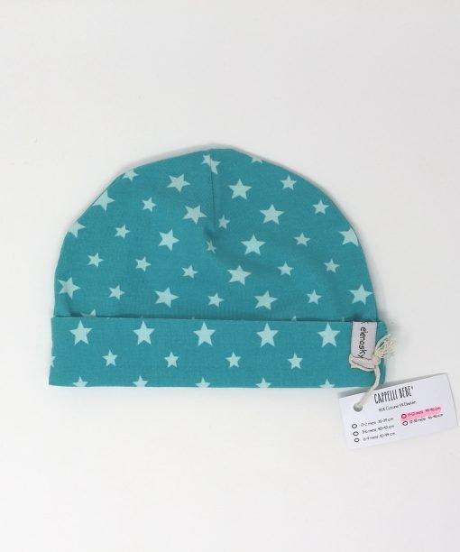 cappellino cotone stelle verde 9-12 mesi