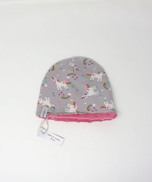 cappellino invernale unicorni grigio 42