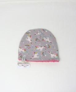 cappellino invernale unicorni grigio 44