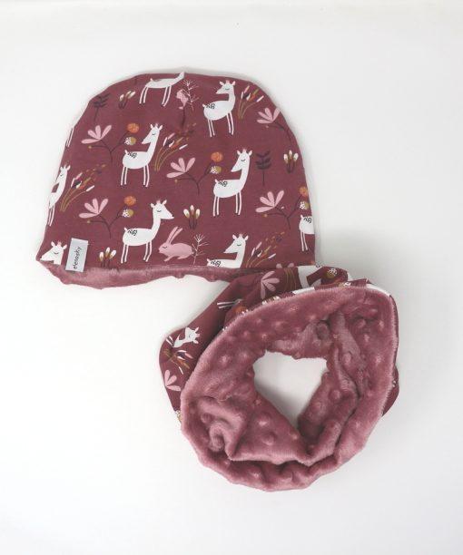 cappellino e scaldacollo invernale bambi