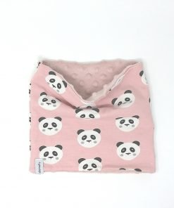scaldacollo invernale panda rosa