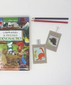 segnalibri di stoffa dinosauri
