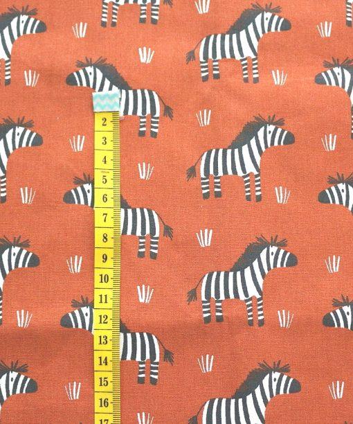 cotone zebre mattone