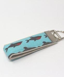 portachiavi di stoffa squali