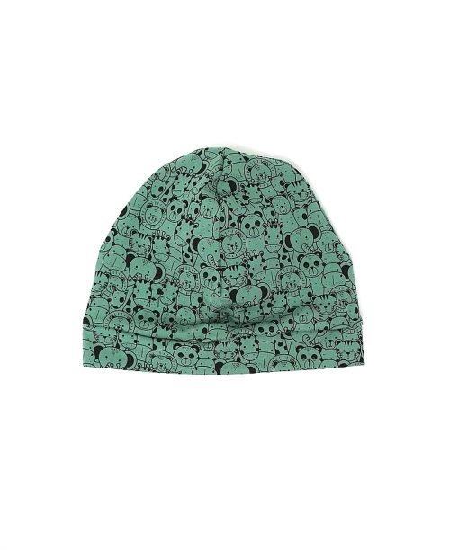 cappellino cuffia animaletti verdi