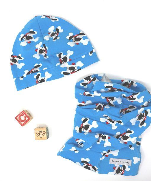 cappellino e scaldacollo cani osso