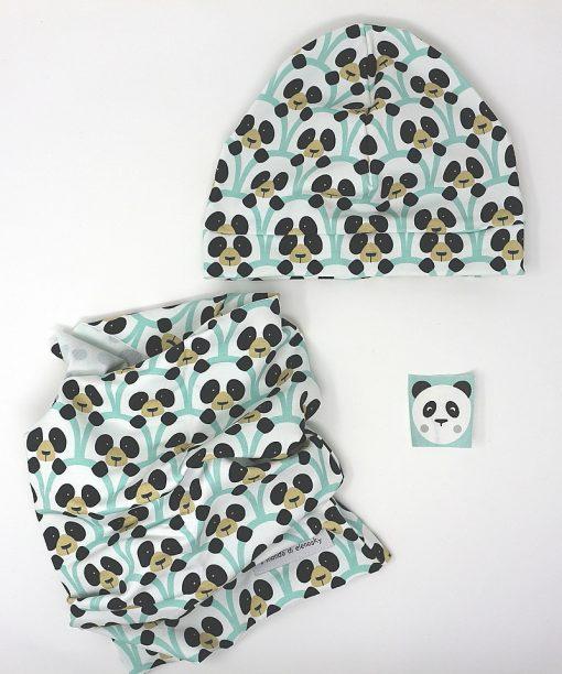 cappellino e scaldacollo orsi verde