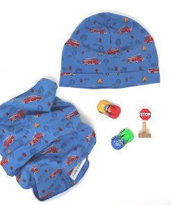 cappellino e scaldacollo pompieri