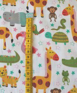 cotone giraffe tartarughe scimmie